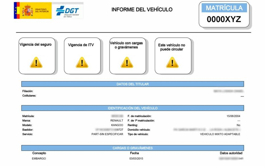 Todas las causas de Denegatoria de un vehículo